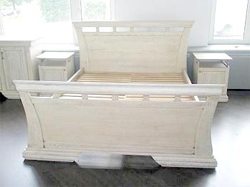 "Bed ""Antique"", color aged oak"