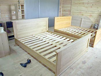 "Bed ""Rus'"", oak color"